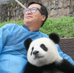 Ben and a real panda