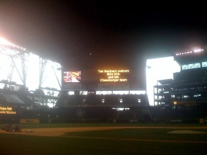 Safeco Field, Name in lights