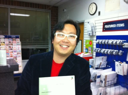 Ben Huh and Voting for the First Time on Nov. 2nd, 2010 at the SeaTac post office